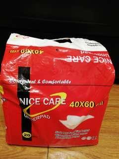 即棄隔水墊20片一包,入院必備
