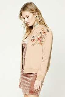 F21 Embroidered Bomber Jacket