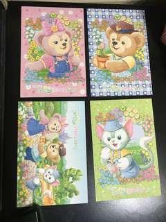 全套 Disney duffy friends postcard