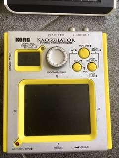 Korg kaossilator synthesizer not novation roland akai alesis moog