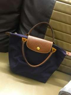 Longchamp purple small short handle (authentic)