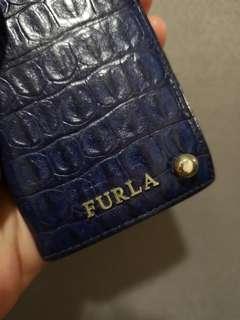 🚚 Authentic Furla Croc-skin Card Holder