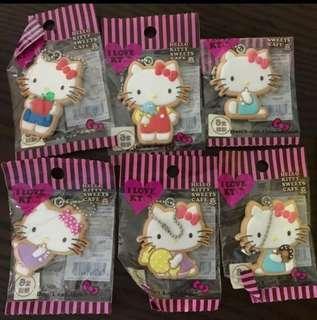 🈹全新 絕版Kitty 餅乾造型 掛飾一套