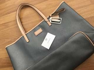 (PL) COACH PARK METRO LEATHER TOTE - SILVER