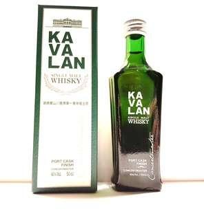KAVALAN SINGLE MALT WHISKY PORT CASK FINISH CONCERTMASTER 50ML MINIATURE