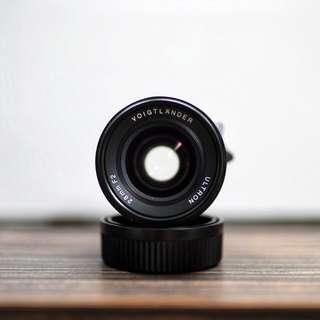 Voigtlander 28mm f/2 Ultron (VM mount) with B+W filter