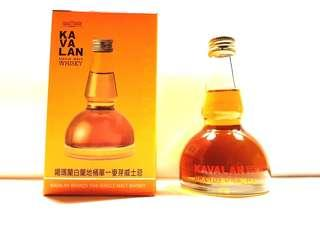 KAVALAN BRANDY OAK SINGLE MALT WHISKY 50ML POT STILL SHAPE MINIATURE