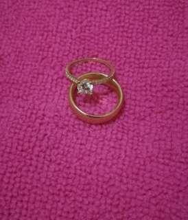 Authentic 18K Saudi Gold Wedding Ring, size 4.5