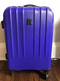 """It Hard Shell 20"""" Carry On purple suitcase"""