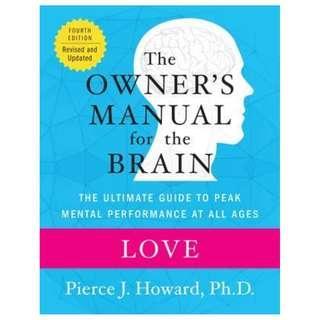 (Ebook) Love: The Owner's Manual by Pierce J. Howard