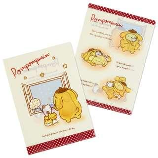 Sanrio 日本正版 Pompompurin 布甸狗 布丁狗 A4 File 文件夾 (Night)
