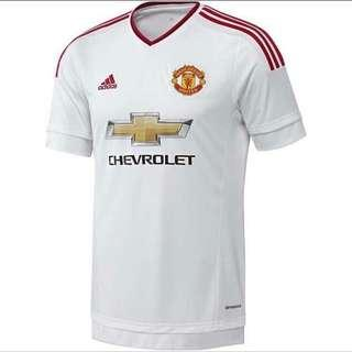 Man united away jersey(red/white) Authentic