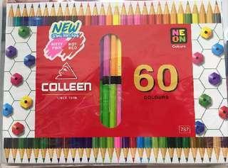 🚚 colleen 油性色鉛筆 60色 雙頭