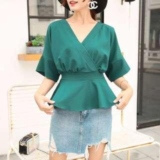 Free Mail - Brand New Green Ladies Top Kimono