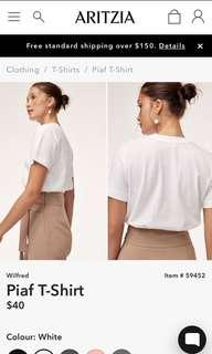 ARITZIA - Wilfred Piaf Shrit - Black and White Size small $20/shirt