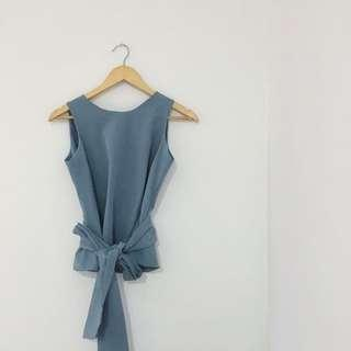 Blue Knotted Top