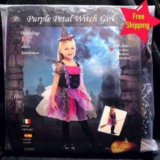 Kids Purple Witch Costume
