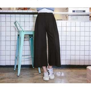 🚚 -Dan小舖- 百褶雪紡寬褲 褲裙 黑色M 東京著衣 Tokyo Fashion