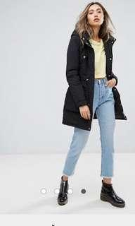 ASOS coat parka fur hood jacket