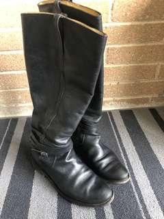Frye tall boots black size 7.5