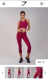 Gymshark Energy Seamless Cropped leggings - Beat Marl - Size Medium