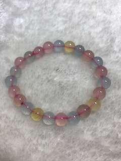 Natural Morgan Stone Beryl Bracelet 天然摩根石/绿柱石 手链