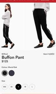 **PRICE DROP** ARITZIA Wilfred Buffon Pant - Black/Oak Size Small