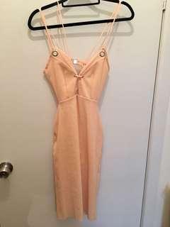 Bec & Bridge Blush Pink Mesh Dress Size 6