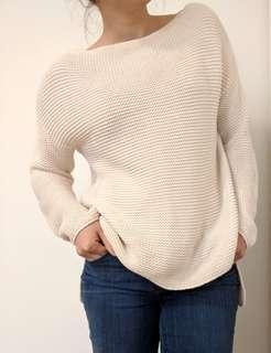 Stradivarius cream knit sweater