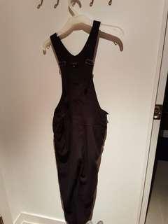 xxs Black Talua Ankle Length Overalls