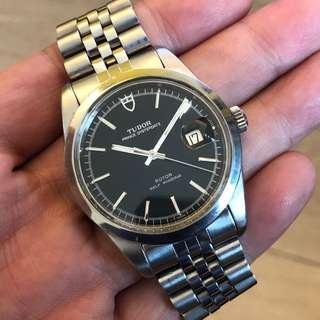 FS: Tudor Jumbo 38mm 90800 rare Black dial, aftermarket jubilee bracelet
