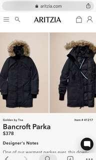 Winter Jacket  TNA down- filled Parka
