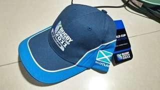 Brand new original special edition official merchandise rugby world cup 2011 scotland cap -m