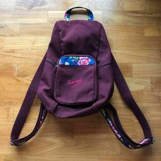 Naraya Maroon Burgundy Floral Backpack