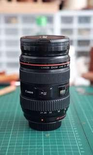 Very Used Canon 24-70mm f/2.8 Ver 1 as is