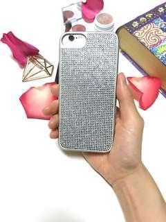 iPhone 7/8 Silver Rhinestone Case