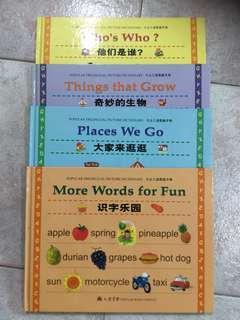 Popular Trilingual picture dictionary (4 books)