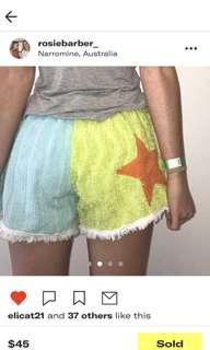 Vintage towel shorts