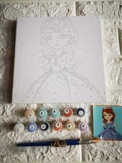 Princess Sofia canvas painting