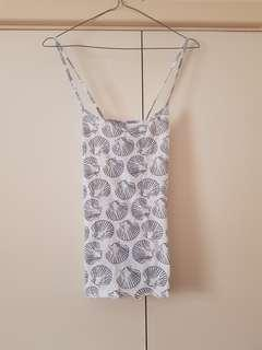 H&M Seashell Cross Back Cami Size XS/6