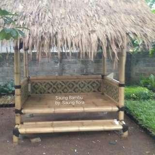 Saung Bambu   Gazebo Bambu Untuk Santai ngopi ngopi