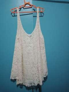 American Eagle Outfitters White Sleeveless Top XS