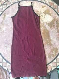 Halter maroon dress