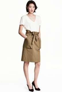 H&M Rok Cargo Pita, Cargo Skirt Army