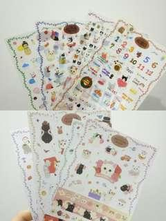 Cat album sticker 8 in 1