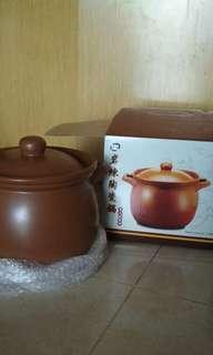 岩煉(陶瓷鍋)純天然(在一田百貨購買)湯煲 /煮粥(全新)