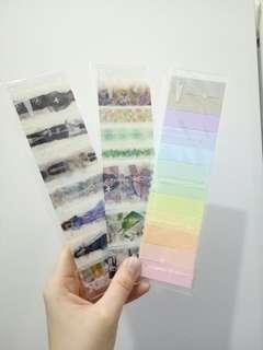 (3 in 1) washi tapes