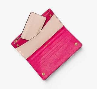 美國代購Michael kors 女裝銀包Women's Saffiano Leather Slim Wallet