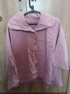Atasan fashion pink size m