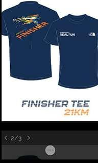 TheNorth Face : REAL RUN 2018 vest,finish-tee&medal(21km)